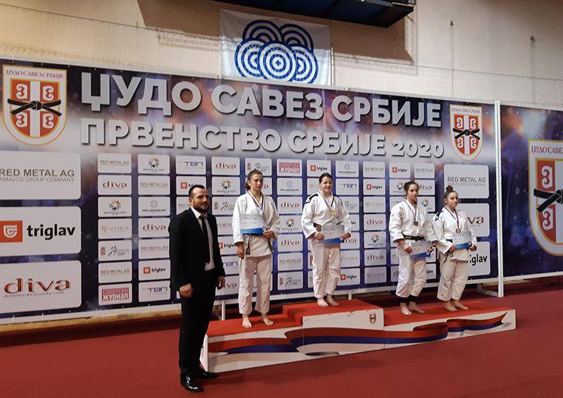 Uspeh džudo kluba Voždovac na Prvenstvu Srbije za kadete 2020.